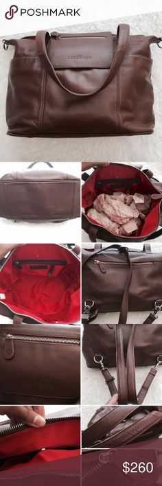 """Lily Jade """"Madeline"""" Baby Bag Lily Jade diaper bag. In the color brandy. Red interior, silver hardware. Comes with a longer strap to convert it into a crossbody or backpack. It's absolutely stunning!! This bag has been very well taken care of. Little wear on the bottom corners but otherwise in amazing condition! *Organizing insert/changing pad is NOT included* Therefore this make a perfect everyday bag/purse, even for those with no littles. Bags"""