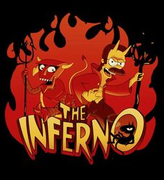 Luci - The Inferno - Futurama, The Simpsons, Disenchantment Simpsons Tattoo, Simpsons Art, Coven, Futurama Bender, Timeless Show, Simpsons Characters, Old School Cartoons, Psychedelic Art, Art Logo