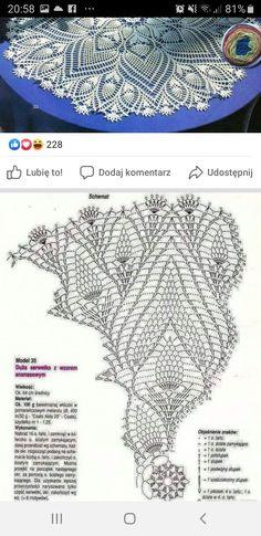 Crochet Diagram, Crochet Motif, Crochet Doilies, Crochet Lace, Crochet Stitches, Doily Patterns, Crochet Patterns, Crochet Tablecloth, Crotchet