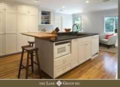 Kitchen Remodel Micro and dishwasher in island, wall of cabinets Low Cabinet, Microwave, Kitchen Remodel, Dishwasher, Grass, Cabinets, Kitchens, New Homes, House Ideas