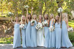 Bacara Santa Barbara Wedding. Bride. Groom. Ceremony. Outdoor. Wedding Party. Bridesmaids. Groomsmen. Wedding planned by Sonia Hopkins from XOXO Bride. Photo by Michael Segal Photography
