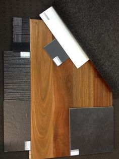 Charcoal Grey selections with Spotted Gum Timber. Not bad if I say so myself! Timber Flooring, Kitchen Flooring, Hardwood Floors, Flooring Ideas, Spotted Gum Flooring, Brisbane Architecture, Home Design 2017, Colour Board