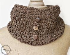 Charlie #Crochet Cowl pattern for sale from Rescued Paw