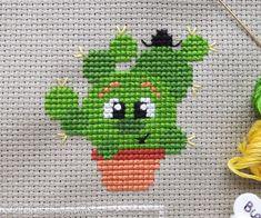 George the Golden Ball Cactus Cross Stitch Pattern PDF Needlepoint Stitches, Counted Cross Stitch Patterns, Cross Stitch Embroidery, Hand Embroidery Patterns, Pdf Patterns, Free Pattern, Cactus Cross Stitch, Cute Stitch, Hello Kitty Wallpaper
