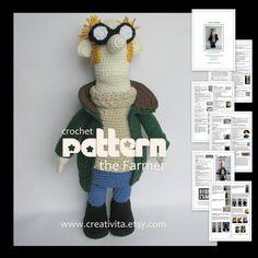 The Farmer  a crochet pattern by creativita on Etsy, $12.00