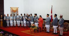 Newly appointed ministers have taken oath of office and secrecy at the Presidential office, Sheetal Niwas on Friday evening. Prime Minister Oli had added 15 new ministers- nine from his own party CPN UML and six from CPN Maoist Center on Friday