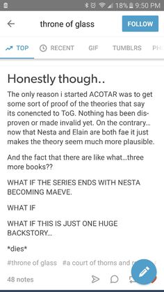 Like the idea of ACOTAR being a backstory but not Nesta being Maeve. I like her too much for that