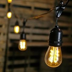 Buy Commercial LED Edison Drop String Lights, 100 Foot Black Wire, Warm  White At Online Store