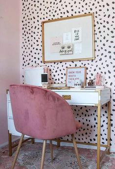 5 Baffling Home Office Design Ideas! - - 5 Baffling Home Office Design Ideas! Innenministerium 5 verblüffende Home Office-Designideen! Home Office Design, Home Office Decor, House Design, Office Ideas, Office Designs, Office Inspo, Pink Office Decor, Office Furniture, Furniture Ideas
