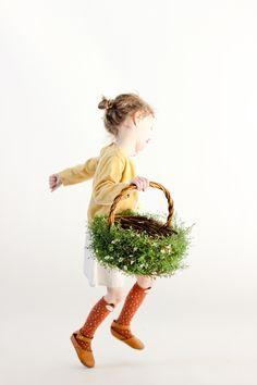 DIY Greenery Easter Basket // www.deliacreates.com #MichaelsMakers @michaelsstores #ad