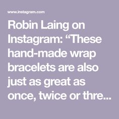 """Robin Laing on Instagram: """"These hand-made wrap bracelets are also just as great as once, twice or three times a necklace! With brass, glass and semi-precious beads.…"""" 13 Reasons, Semi Precious Beads, Wrap Bracelets, Robin, Brass, Times, Handmade, Instagram, Hand Made"""