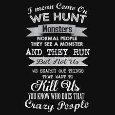 Spn Quote Supernatural quote fandom merchandise