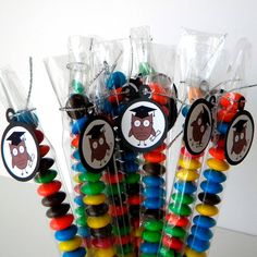 Graduation Owl Party Favor Candy Treat Bags by CarasScrapNStampArt, $9.00