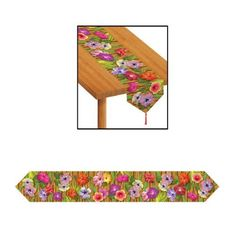 Printed Luau Table Runner Description: They'll be running to your luau! Printed Luau Table Runner has colorful Hawaiian flowers streaming across. Runner is Hawaiian Party Supplies, Hawaiian Luau Party, Table Runner Size, Table Runners, Luau Party Decorations, Table Decorations, Decoration Party, Party Supplies Australia, Prom Themes