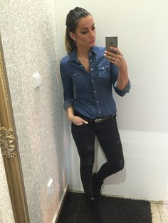 Zara #jeans and #ck belt