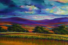 Landscape Paintings and photographs : Sonoma Rolling pastel by Michael Mckee