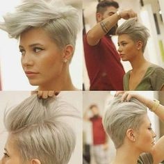 A cool new style tip for this beautiful pixie model.  Alert me if know who can credit