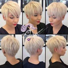 blonde choppy pixie