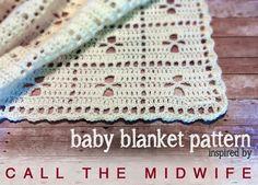 Call the midwife blanket, photo by Little Monkeys Crochet