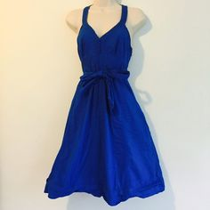 Ted Baker Blue Dress Royal blue empire waist dress with fabric covered buttons. Ted Baker Dresses