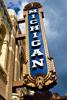 Michigan Theatre, Ann Arbor - 8x10 w/Mat via Etsy.
