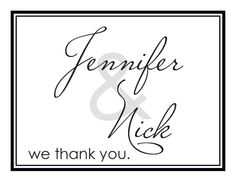 Black and White Long Beach Thank You Card with Customizable Fonts and Colors