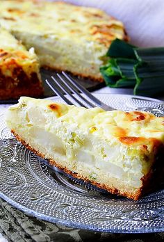 Potato Pie with Leeks, and Feta Cheese_ Recipe adapted from a special edition of a Serbian culinary magazine Carobni Lonac - Slane Torte (Magic pot -Savory cakes)