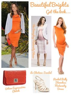 Beautiful Brights | One Mama, Four Looks: Stacy Keibler's Maternity Style | The Baby Post