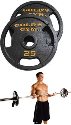 Weight Plates 179817 Gold S Gym 50 Lb Olympic Plate Set Pair Of 25 Lb Plates -\u003e BUY IT NOW ONLY $55.99 on eBay! | Weight Plates 179817 | Pinterest | Gym  sc 1 st  Pinterest & Weight Plates 179817: Gold S Gym 50 Lb Olympic Plate Set Pair Of 25 ...