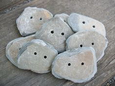8 Handmade Slate Buttons by PymatuningCrafts on Etsy, $8.00