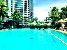 Makati Shangri La Pool Shangri La Hotel, Makati, Capital City, Hotel Reviews, Manila, Dream Vacations, Philippines, Luxury, Places
