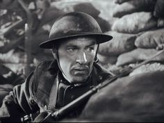 Gary Cooper as 'Sergeant York' (1941) one of my favorite movies about a man from Tennessee not wanting to go to war but learns what it means to be a patriot.