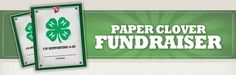 School News - paper clover fundraiser