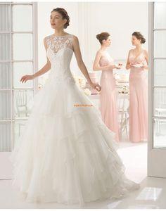 A-Linie Hochzeitskleider mit Schal Glamourös & Dramatisch Brautkleider 2015