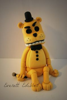 Golden Freddy Five Nights At Freddy's Cake Topper   by Everett Edibles