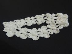 Tiara de Crochê com Borboletas - Parte1