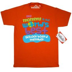 Inktastic School Board Member Gifts For Kids T-Shirt Auditing Clothing Apparel Clothes Occupation Job Cute Mens Adult Tees T-shirts Hws, Size: Small, Orange