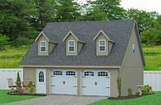 Two story modular garage in maryland not into the color for Prefab garage apartment packages
