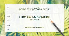 I created my perfect day and it could bring me to the reimagined LUX* Grand Gaube, Mauritius soon! LUX* Resorts & Hotels is offering a stay for 2, business flights included. Try your luck too.