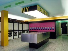 """Housing: Common laundry """"My beautiful laundrette"""", Hochhaus James, Zürich-Albisrieden, 2008, Patrick Gmür Architekten"""