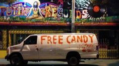 """Australian Ron Jacobs achieved internet infamy after children noticed his """"creepy"""" van parked in their suburban California neighbourhood. White Vans, Black Vans, Sleep With The Fishes, Burst Out Laughing, Australian Men, Old Names, Bad Romance, Word Free, Tv Station"""