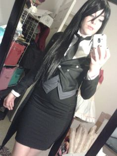 Female Sebastian Michaelis http://www.wikihow.com/Cosplay-As-Sebastian-Michaelis-on-Kuroshitsuji - COSPLAY IS BAEEE!!! Tap the pin now to grab yourself some BAE Cosplay leggings and shirts! From super hero fitness leggings, super hero fitness shirts, and so much more that wil make you say YASSS!!!