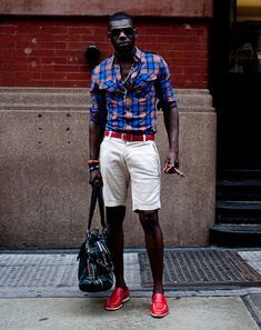 New York Street Style Photos by Ben Ferrari - Men's Street Style: Style: GQ. I don't like the shoes, but the ensemble is styled well.