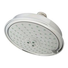 "Newport Brass 2142 6"" 2.0 gpm Single Function Solid Brass Shower Head White Showers Shower Heads Single Function"