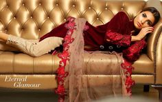 perfect style that you need for this iciness season. Sobia Nazir Slik Dresses Winter Collection 2016 is best anthology wardrobe with new glamorous silk fabric.