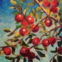 Apple Tree #3, painting by artist Elizabeth Fraser
