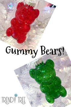 Gummy Bears Christmas Ornaments Everyone loves Gummy Bears! Now you can decorate your tree with these adorable 4 red and green Gummy Bear Christmas ornaments from RAZ. Coming to Trendy Tree soon! Source by trendytree Valentine Decorations, Christmas Tree Decorations, Halloween Decorations, Christmas Ornaments, Christmas Trees, Christmas Centerpieces, Pink Christmas, Christmas Crafts, Xmas