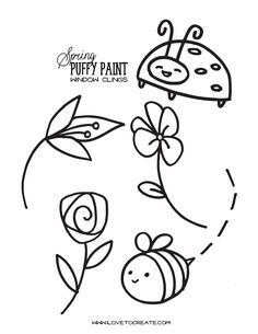 Spring Puffy Paint Window Clings | iLoveToCreate