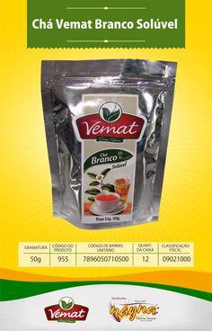 Chá Vemat Branco Soluvel 50gr