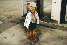 Skirt from Zara/Jacket from Bikbok/Top from Gina Tricot/Shoes from L.A/Bag from Zara/